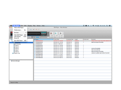 DSS Player per MAC, Olympus, Transcription Software